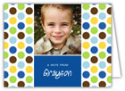 Mayberry Design - Stationery/Thank You Notes (Polka Dots Blue - Photo) (1033-5nc)