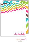 Modern Posh Stationery/Thank You Notes - Chevron Posh - Pink & Green