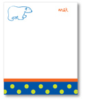 Polka Dot Pear Design - Correspondence Cards (Peter the Polar Bear)