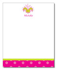 Polka Dot Pear Design - Correspondence Cards (Flower Dots)