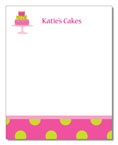 Polka Dot Pear Design - Correspondence Cards (Patty Cakes)