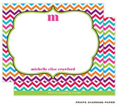 Prints Charming Note Cards/Stationery - Multi-Color Chevron (Flat) (EF2025)