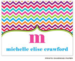 Prints Charming Note Cards/Stationery - Multi-Color Chevron (Folded) (EN2025)