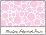 Prints Charming Folded Note Cards - Pink Bubble (N9003)
