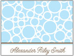 Prints Charming Folded Note Cards - Blue Bubble (N9004)