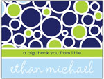 Prints Charming Folded Note Cards - Navy Bubble (N9005)