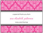 Prints Charming Folded Note Cards - Pink Floral Band (N90101)