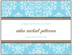 Prints Charming Folded Note Cards - Blue Floral Bank (N9070)