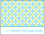 Prints Charming Folded Note Cards - Blue/Yellow Circle (N9080)