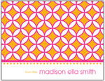 Prints Charming Folded Note Cards - Pink/Orange Circle (N9081)