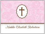 Prints Charming Folded Note Cards - Pink Cross (N9088)
