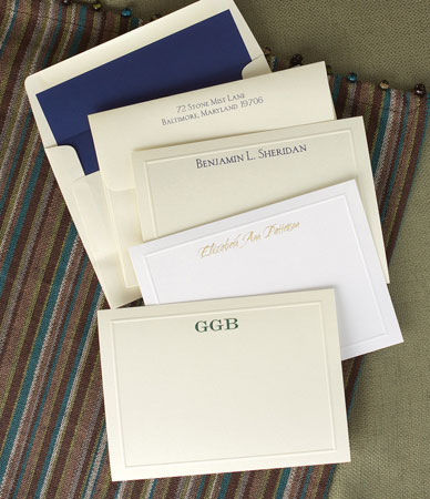 Rytex Signature Style Stationery - Elegant Embossed Border Cards (B4-44)