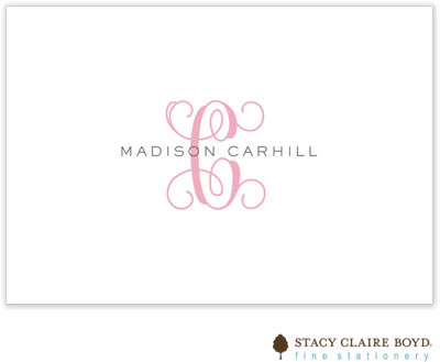 Stacy Claire Boyd - Stationery/Thank You Notes - Clean & Simple - Pink (Folded)