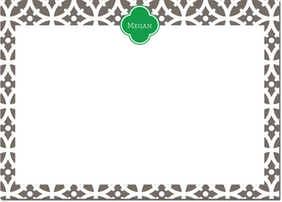 Whitney English Stationery/Thank You Notes - Bloom Smoke (W24402)