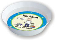 Pen At Hand Stick Figures - Melamine Bowls (College Boy)