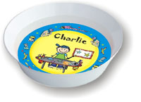 Pen At Hand Stick Figures - Melamine Bowls (Craft Boy)