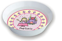 Pen At Hand Stick Figures - Melamine Bowls (Princess)