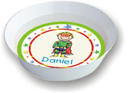 Pen At Hand Stick Figures - Melamine Bowls (Superhero)