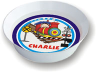 Pen At Hand Stick Figures - Melamine Bowls (Train)