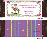 Pen At Hand Stick Figure Candy Wrappers - Create-Your-Own (Girl)