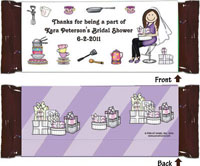 Pen At Hand Stick Figure Candy Wrappers - (Bridal - Shower 2)
