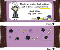 Pen At Hand Stick Figure Candy Wrappers - (Graduate)