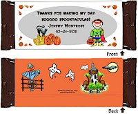Pen At Hand Stick Figure Candy Wrappers - (Halloween - Boy)