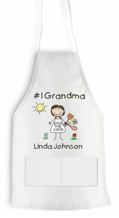 Pen At Hand Stick Figures - Apron (Grandma)