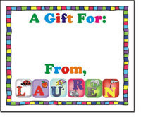Pen At Hand Stick Figures - Gift Stickers - Letters - Girl (Full Color)