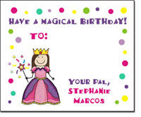 Pen At Hand Stick Figures - Gift Stickers - Princess (Full Color)