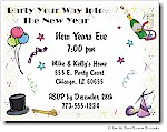 Pen At Hand Stick Figures - Invitations - New Years #2 (Holiday)