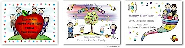 Jewish New Year Cards by Pen At Hand Stick Figure Products