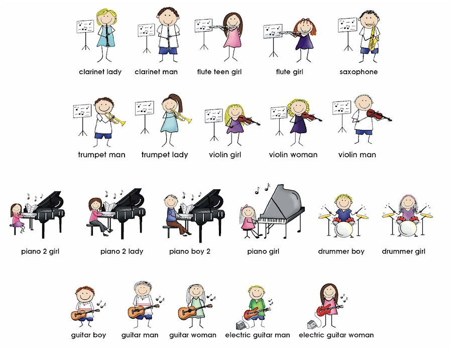 Circle the Correctly-Spelled Musical Instruments Images ...