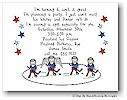 Pen At Hand Stick Figures - Invitations - Ice Hockey