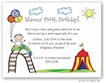 Pen At Hand Stick Figures - Invitations - Carnival Coaster