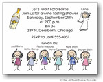 Pen At Hand Stick Figures Invitations - Wine Taste