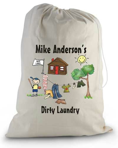 Pen At Hand Stick Figures - Laundry Bag (Camp)