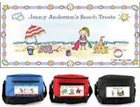 Pen At Hand Stick Figures - 6-Pack Lunch Sacks (Beach)