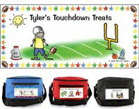 Pen At Hand Stick Figures - 6-Pack Lunch Sacks (Football)