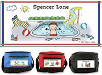Pen At Hand Stick Figures - 6-Pack Lunch Sacks (Pool-Boy)