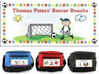 Pen At Hand Stick Figures - 6-Pack Lunch Sacks (Soccer)