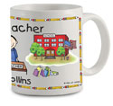 Pen At Hand Stick Figures - Mug (Teacher - 2 - Man)