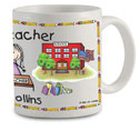 Pen At Hand Stick Figures - Mug (Teacher - 2 - Woman)
