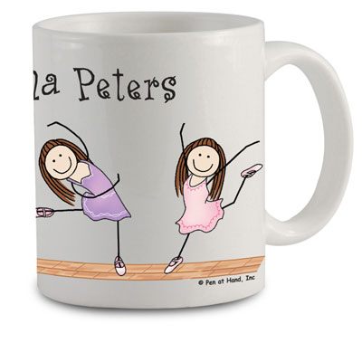 Pen At Hand Stick Figures - Mug (Ballerinas)