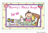 Pen At Hand Stick Figures - Laminated Placemats (Baby Girl)