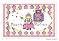 Pen At Hand Stick Figures - Laminated Placemats (Princess)