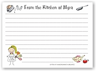 Pen At Hand Stick Figures - Recipe Cards (Recipe 4)