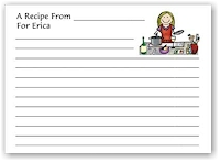 Pen At Hand Stick Figures - Recipe Cards (Recipe 7)