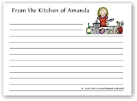 Pen At Hand Stick Figures - Recipe Cards (Recipe 8)