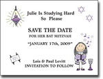 Pen At Hand Stick Figures - Save The Date Cards (Bat 2)